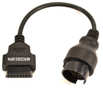 Переходник Mercedes (16-pin OBD2 на MB 38-pin)